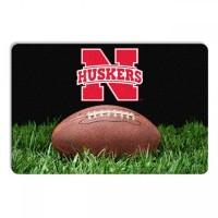 Nebraska Huskers Classic Football Pet Bowl Mat