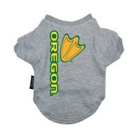 Oregon Ducks Heather Grey Pet T-Shirt