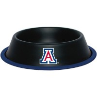 Arizona Wildcats Gloss Black Pet Bowl