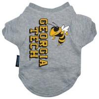 Georgia Tech Heather Grey Pet T-Shirt