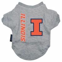 Illinois Fighting Illini Heather Grey Pet T-Shirt