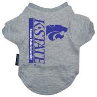 Kansas State Heather Grey Pet T-Shirt