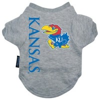 Kansas Jayhawks Heather Grey Pet T-Shirt