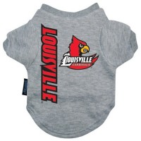 Louisville Cardinals Heather Grey Pet T-Shirt