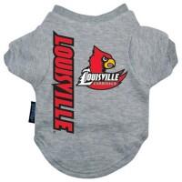 Louisville Cardinals Heather Grey Pet T-Shirt