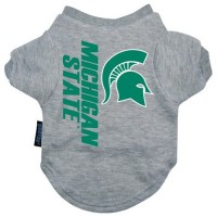 Michigan State Heather Grey Pet T-Shirt