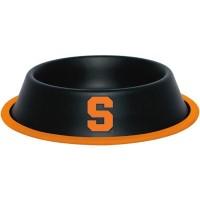 Syracuse Orange Gloss Black Pet Bowl