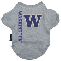 Washington Huskies Heather Grey Pet T-Shirt