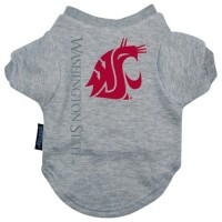 Washington State Heather Grey Pet T-Shirt