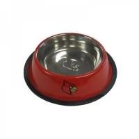 Louisville Cardinals Stainless Steel Pet Bowl