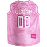 UConn Huskies Pet Pink Basketball Jersey