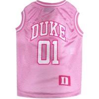 Duke Blue Devils Pet Pink Basketball Tank Jersey