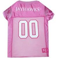 Kansas Jayhawks Pink Pet Jersey