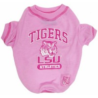 LSU Tigers Pink Dog Tee Shirt