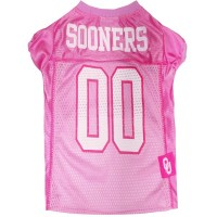 Oklahoma Sooners Pink Pet Jersey