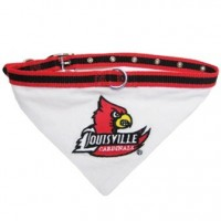 Louisville Cardinals Dog Collar Bandana