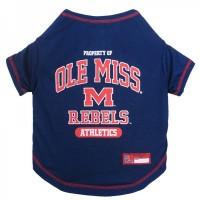 Ole Miss Rebels Pet Tee Shirt