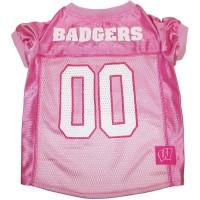 Wisconsin Badgers Pink Pet Jersey