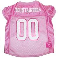 West Virginia Mountaineers Pink Pet Jersey