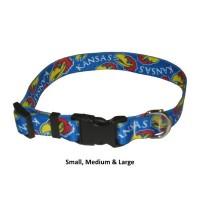 Kansas Jayhawks Nylon Pet Collar