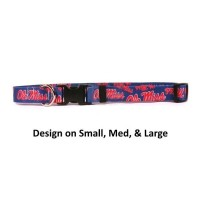 Ole Miss Rebels Nylon Pet Collar