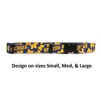 Michigan Wolverines Nylon Pet Collar