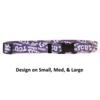 TCU Horned Frogs Nylon Pet Collar