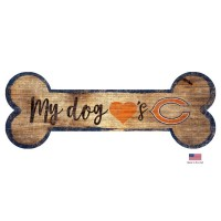 Chicago Bears Distressed Dog Bone Wooden Sign