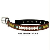 Green Bay Packers Classic Leather Football Pet Collar