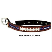 Houston Texans Classic Leather Football Pet Collar