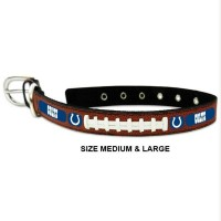 Indianapolis Colts Classic Leather Football Pet Collar