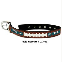 Philadelphia Eagles Classic Leather Football Pet Collar