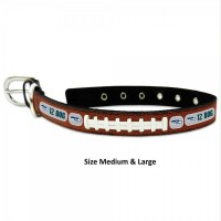 Seattle Seahawks 12th Dog Classic Leather Football Collar