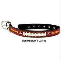 Washington Redskins Classic Leather Football Pet Collar