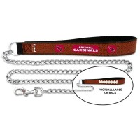 Arizona Cardinals Football Leather And Chain Pet Leash
