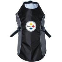 Pittsburgh Steelers Water Resistant Reflective Pet Jacket