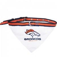 Denver Broncos Dog Collar Bandana