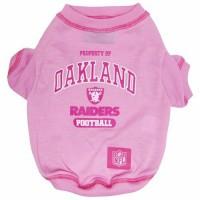 Oakland Raiders Pink Pet T-Shirt