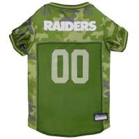 Oakland Raiders Pet Camo Jersey