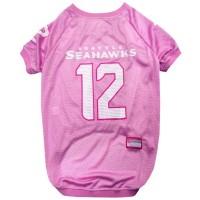"Seattle Seahawks ""12th Man"" Pink Pet Jersey"