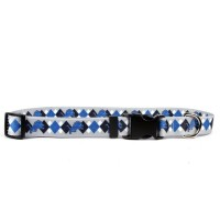 Detroit Lions Argyle Nylon Pet Collar