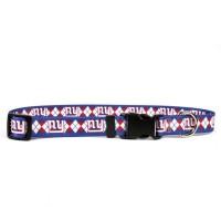 New York Giants Argyle Nylon Pet Collar