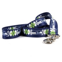 Seattle Seahawks Argyle Nylon Pet Leash